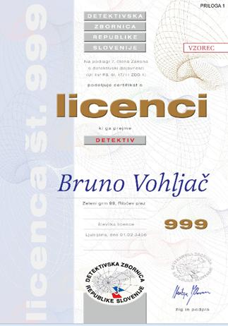 licenca za detektiva