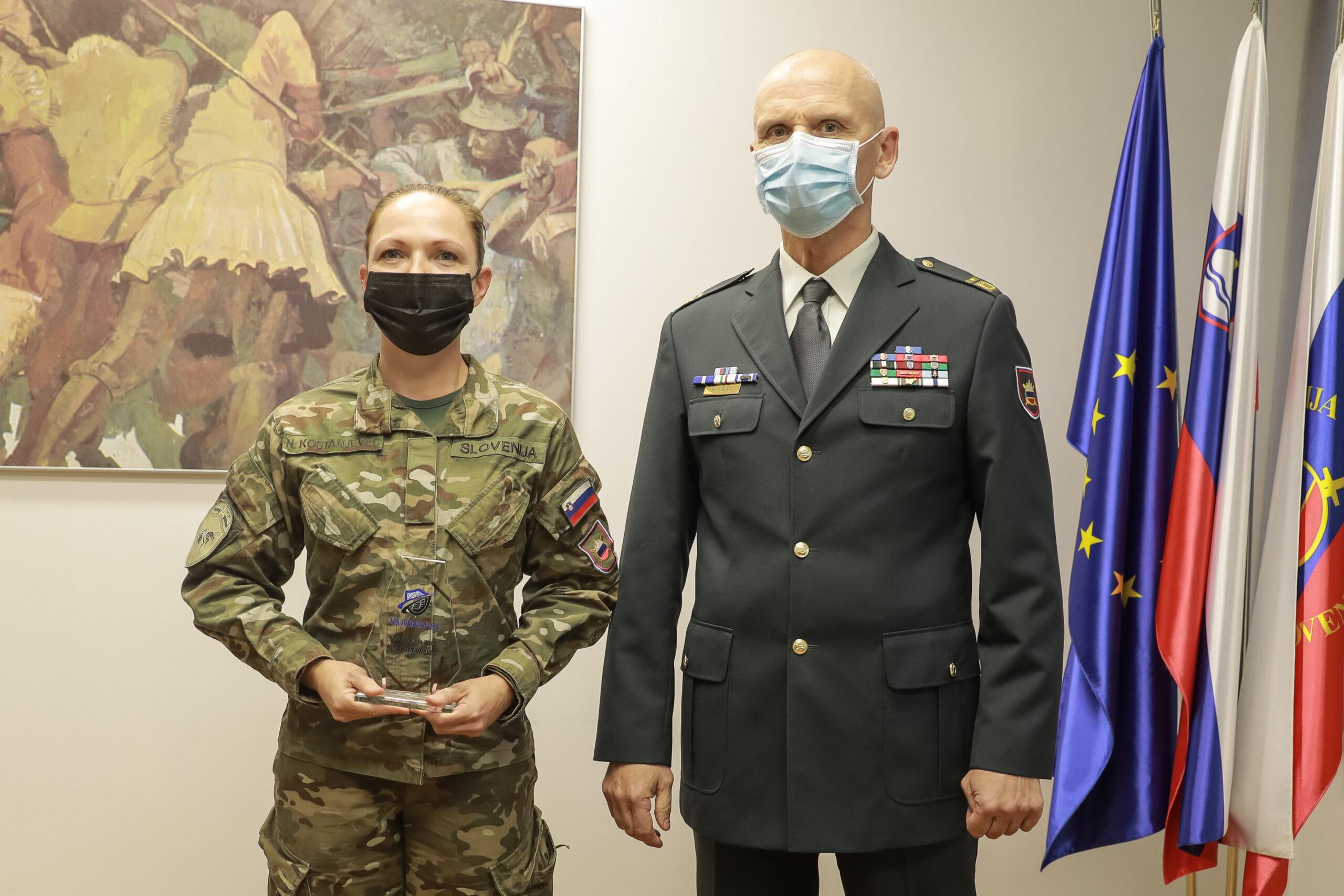 vojakinja leta 2019 in brigadir Glavaš Varensvet.si